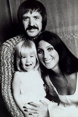 Sonny & Cher With Daughter Chastity Art Print