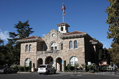 Sonoma City Hall - Downtown Sonoma California - 5d19266 Art Print by Wingsdomain Art and Photography