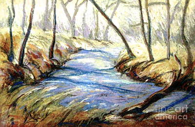 Pastel - Sope Creek by Gretchen Allen