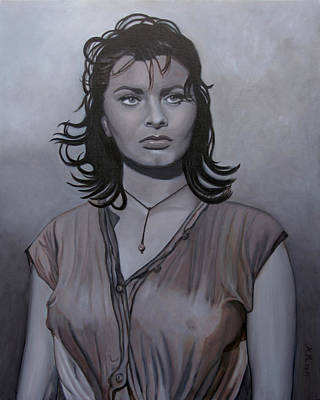 Painting - Sophia Loren  by Antonio Marchese