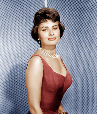 Diamond Earrings Photograph - Sophia Loren, Ca. 1950s by Everett