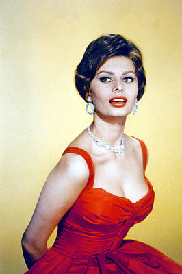 1950s Fashion Photograph - Sophia Loren, Late 1950s by Everett