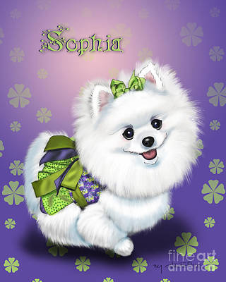Mixed Media - Sophia Pomeranian Mega Star by Catia Lee
