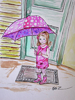 Hello Kitty Painting - Sophia Pretty In Pink by Kelly     ZumBerge