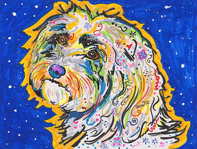 Peter Max Drawing - Sophia by Rebecca Fischer