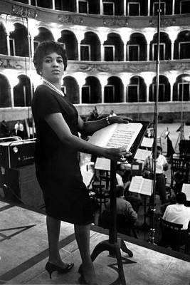 Rehearsing Photograph - Soprano Leontyne Price At A Rehearsal by Everett