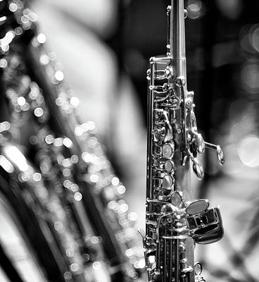 Saxophone Photograph - Soprano Saxophone by © Rune S. Johnsson