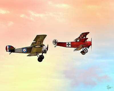 Photograph - Sopwith And Fokker by Endre Balogh