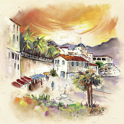 Church Impressionism Painting - Sorbas In Spain 02 by Miki De Goodaboom