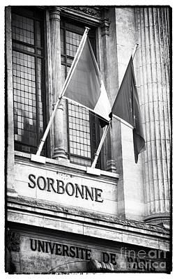 Photograph - Sorbonne by John Rizzuto