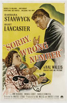 Sorry, Wrong Number, Barbara Stanwyck Art Print