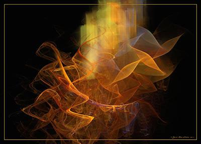 Digital Art - Soul Flower by Sipo Liimatainen