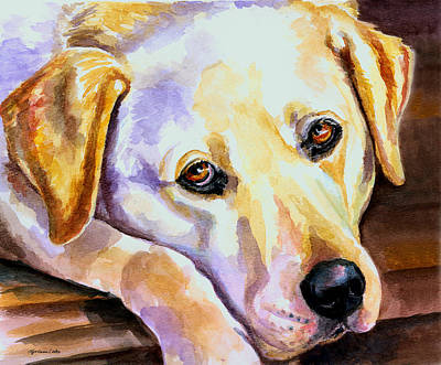 Puppies Painting - Soulful by Lyn Cook