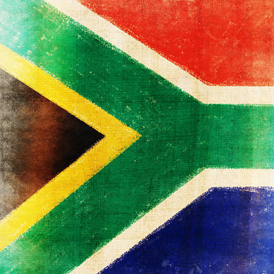 South Africa Flag Art Print