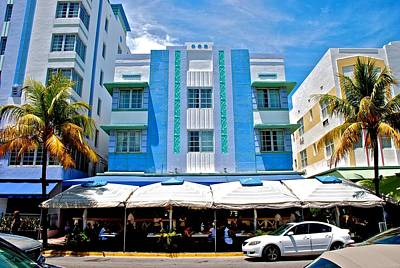 South Beach The Blue Section Art Print by Eric Tressler
