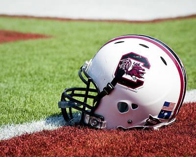 Photograph - South Carolina Helmet by Replay Photos