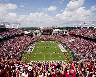 Ecu Photograph - South Carolina View From The Endzone At Williams Brice Stadium by Replay Photos