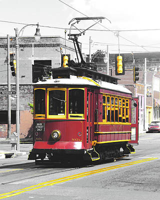 Digital Art - South Main Street Trolley by Lizi Beard-Ward