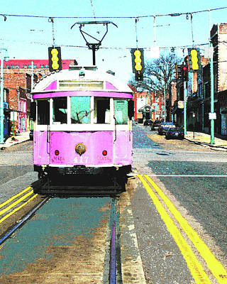 Digital Art - South Main Trolley by Lizi Beard-Ward