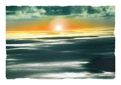 South Pacific Sunset Art Print by Noah Brooks
