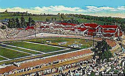 Painting - South Park Racetrack In Pittsburgh Pa In 1910 by Dwight Goss