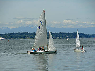 Photograph - South Puget Sound Sailing by Robert Meyers-Lussier