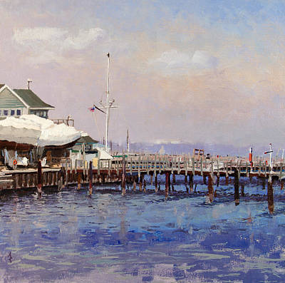 South Shore Marina Art Print by Anthony Sell
