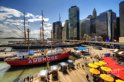 Photograph - South Street Seaport by Yhun Suarez