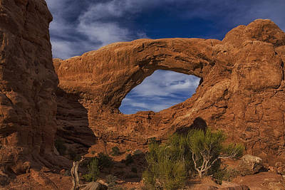 Arch Rock Photograph - South Window - Arches  by Andrew Soundarajan