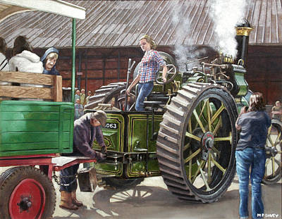 Painting - Southampton Bursledon Brickworks Open Day Picture 2 by Martin Davey
