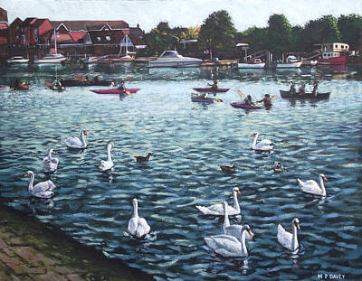 Painting - Southampton Riverside Park River Itchen by Martin Davey