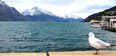 Print featuring the photograph Southern Alps Across Lake Wakatipu by Laurel Talabere