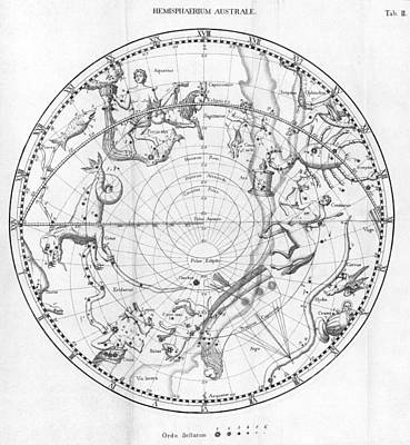 Southern Celestial Map Art Print by Science, Industry & Business Librarynew York Public Library