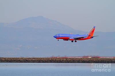 Southwest Airlines Jet Airplane At San Francisco International Airport Sfo . 7d12175 Art Print