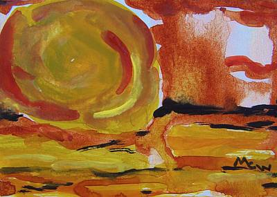 Abstract Expressionism Drawing - Southwest Sun by Mary Carol Williams