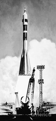 Soviet Soyuz Rocket, 1975 Art Print by Granger