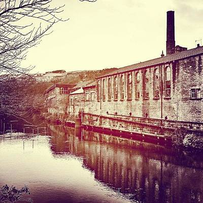 Victorian Wall Art - Photograph - Sowerby Bridge, View From The Bridge by Tim Brown