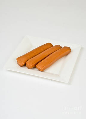 Soy Hot Dogs Art Print by Photo Researchers