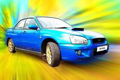 Subaru Impreza Photograph - Sp33d by Sharon Lisa Clarke