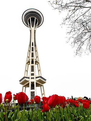 Photograph - Space Needle In Bloom by Jim DeLillo