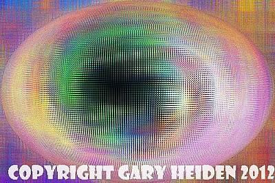 Space Oddesy Painting - Space Oddesy Opal Alien Sphere by Gary Heiden