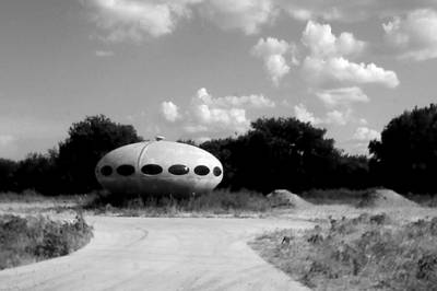 Digital Art - Space Ship On Hwy 267 by Carrie OBrien Sibley