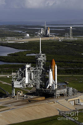 Ov-105 Photograph - Space Shuttle Atlantis And Endeavour by Stocktrek Images
