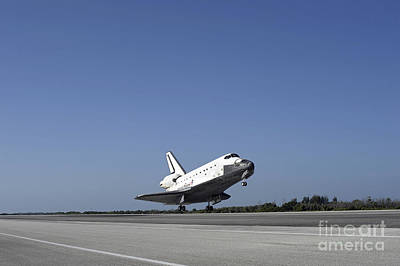 Photograph - Space Shuttle Atlantis Approaching by Stocktrek Images