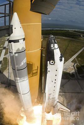 Photograph - Space Shuttle Atlantis Lifts by Stocktrek Images