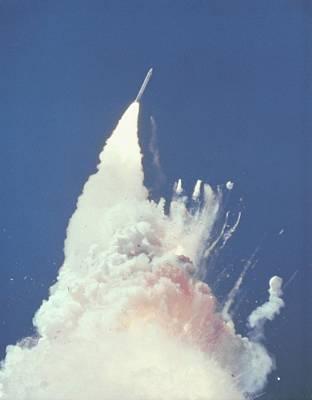 Space Shuttle Challenger Disaster. 76 Art Print