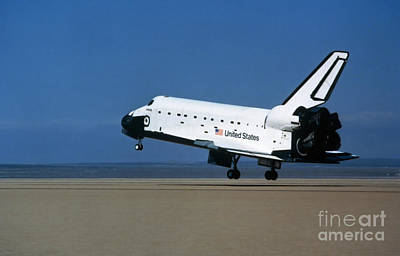 Space Shuttle Coming In For A Landing Art Print by Stocktrek Images