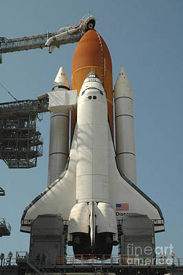 Photograph - Space Shuttle Discovery In Full Launch by Stocktrek Images