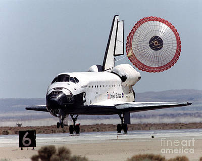 Space Shuttle Endeavor Touchdown Print by NASA / Science Source