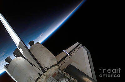 Photograph - Space Shuttle Endeavour Backdropped by Stocktrek Images